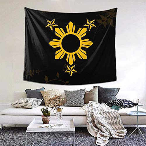 Tapestry Wall Hanging 3 Stars And Sun Filipino Philippines Flag Tapestry Bedding Decor For Living Room/Bedroom Decor Party Banner Backdrop Poster Home Wall Art Decoration Creative Gift