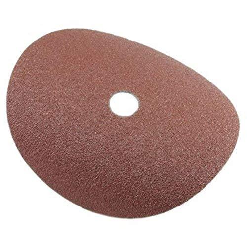 Forney 71655 discos de lijado, óxido de aluminio con cenador de 7/8 pulgadas, 7 pulgadas, grano 50, paquete de 3