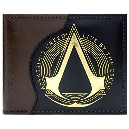 Assassins Creed Live By The Creed Marrone portafoglio