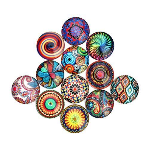 SUPVOX Mosaico de color mezclado Cristal semicircular/Dome