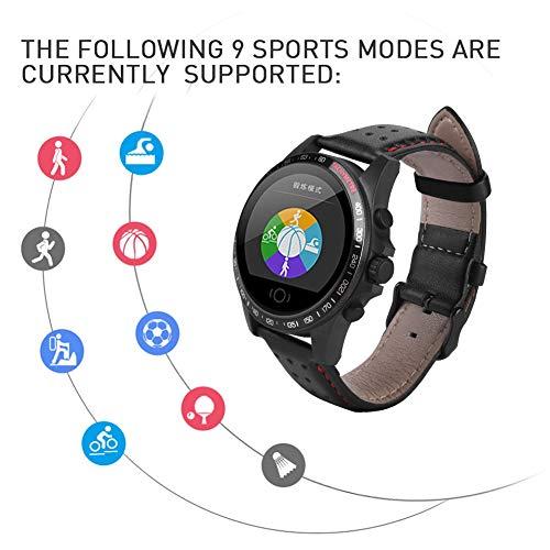 Bluetoothoot Smartwatch, 1,22 Zoll TFT Bildschirm Smart Bluetooth 4.0 Uhren Fitness Tracker Uhr mit Blut/Herzfrequenz Monitor, Schrittzähler, Kalorien, IP68 Wasserdicht Smart Stoppuhr für iOS, Android