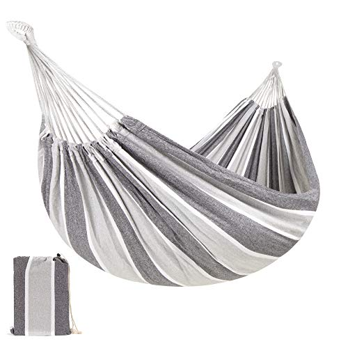 Best Choice Products 2-Person Indoor Outdoor Brazilian-Style Cotton Double Hammock Bed w/Portable Carrying Bag – Steel
