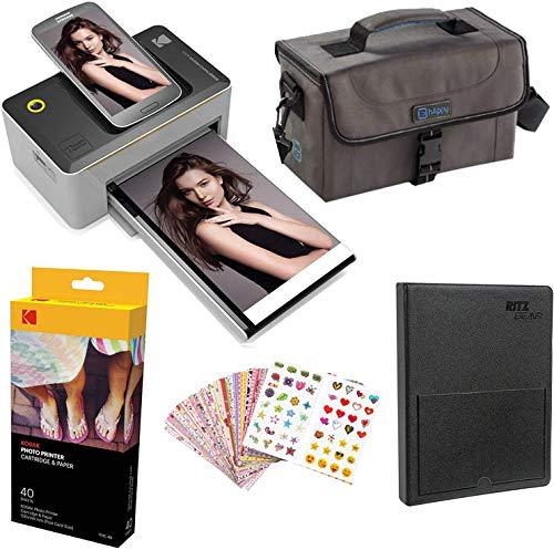 Kodak Dock 4x6 Printer Starter Bundle + 40 Paper + Case + Photo Album + Sticker Frames