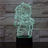 Solo 1 pieza LED Anime Niño Niños Regalo Lámpara de mesa Dormitorio