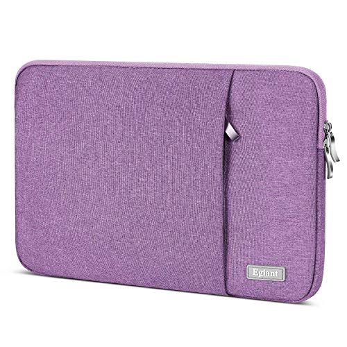 Egiant Laptop Sleeve Water-Resistant Protective Fabric Case Compatible 14-15.4 Inch Notebook, Chromebook 14,2019 New MacBook Pro 16 A2141,MacBook pro 15 Retina,Computer Carrying Bag Cover, Purple