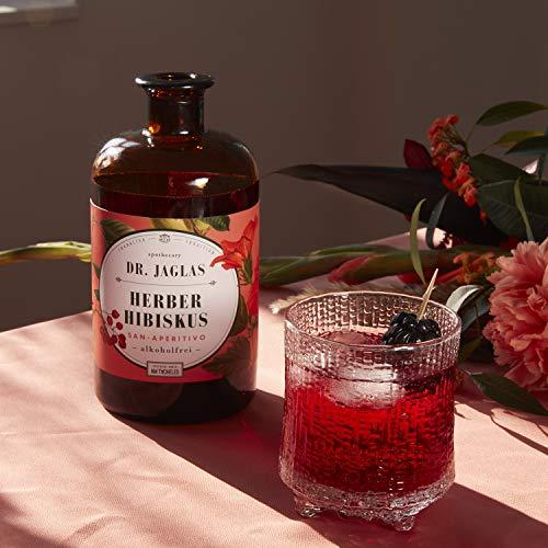 Dr. Jaglas Herber Hibiskus – San Aperitivo / alkoholfreier Gin / alkoholfreier Aperitif / ideal für alkoholfreie Cocktails & als alkoholfreie Spirituose / Herb-süßer Long Drink ohne Alkohol - 5