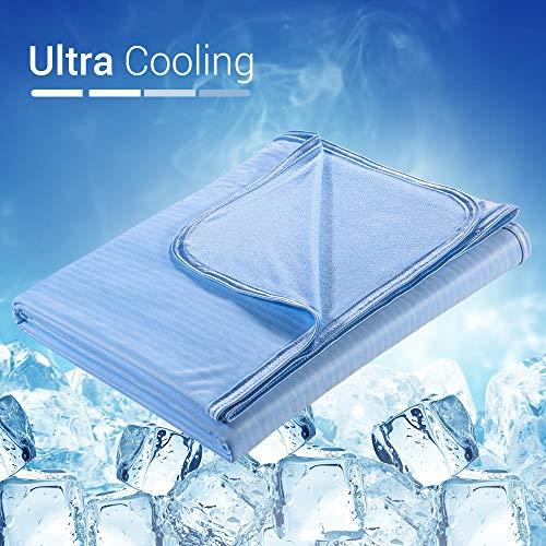 Elegear 2in1 Mikrofaser Kühldecke Sommerdecke - Selbstkühlende Decke für Besseren Schlaf Antiallergie und Atmungsaktiv Kuscheldecke aus Baumwolle Weiche Wohndecke Sofadecke Reisedecke, 150 x 200 cm