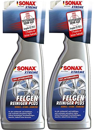 2x SONAX Xtreme Felgenreiniger Plus Spezialreiniger Felge Felgen Reiniger 750ml 230400