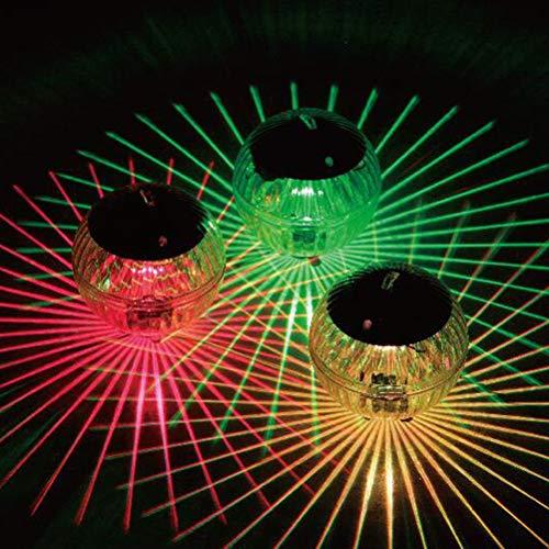 Katyma Poolbeleuchtung Mehrfarbiges Schwimmende Pool Licht wasserdichte LED Leuchtkugel Solar Schwimmlampe für Partys,Pool, Strandpartys, Raves