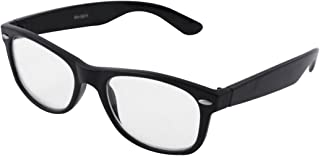 uxcell Unisex Full Rims Square Clear Lens Plain Glasses Spectacles Black