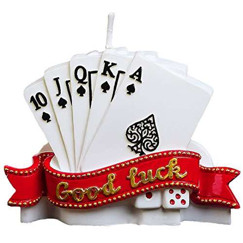 Birthday Candles Good Luck Poker Creative Cake Candles Father's Day Send Father Boyfriend Husband Gift Cake Toppers