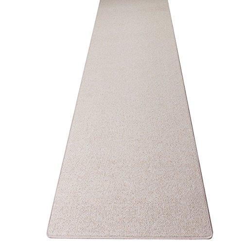 havatex Schlingen Teppich Läufer Torronto - Prüfsiegel: Blauer Engel | schadstoffgeprüft und pflegeleicht | robust strapazierfähig | Flur Diele Eingang Schlafzimmer, Farbe:Beige, Größe:80 x 200 cm