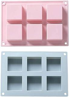 ZHEYANG Moule à gâteau en silicone carré 5 cm x 5 cm x 2,5 cm