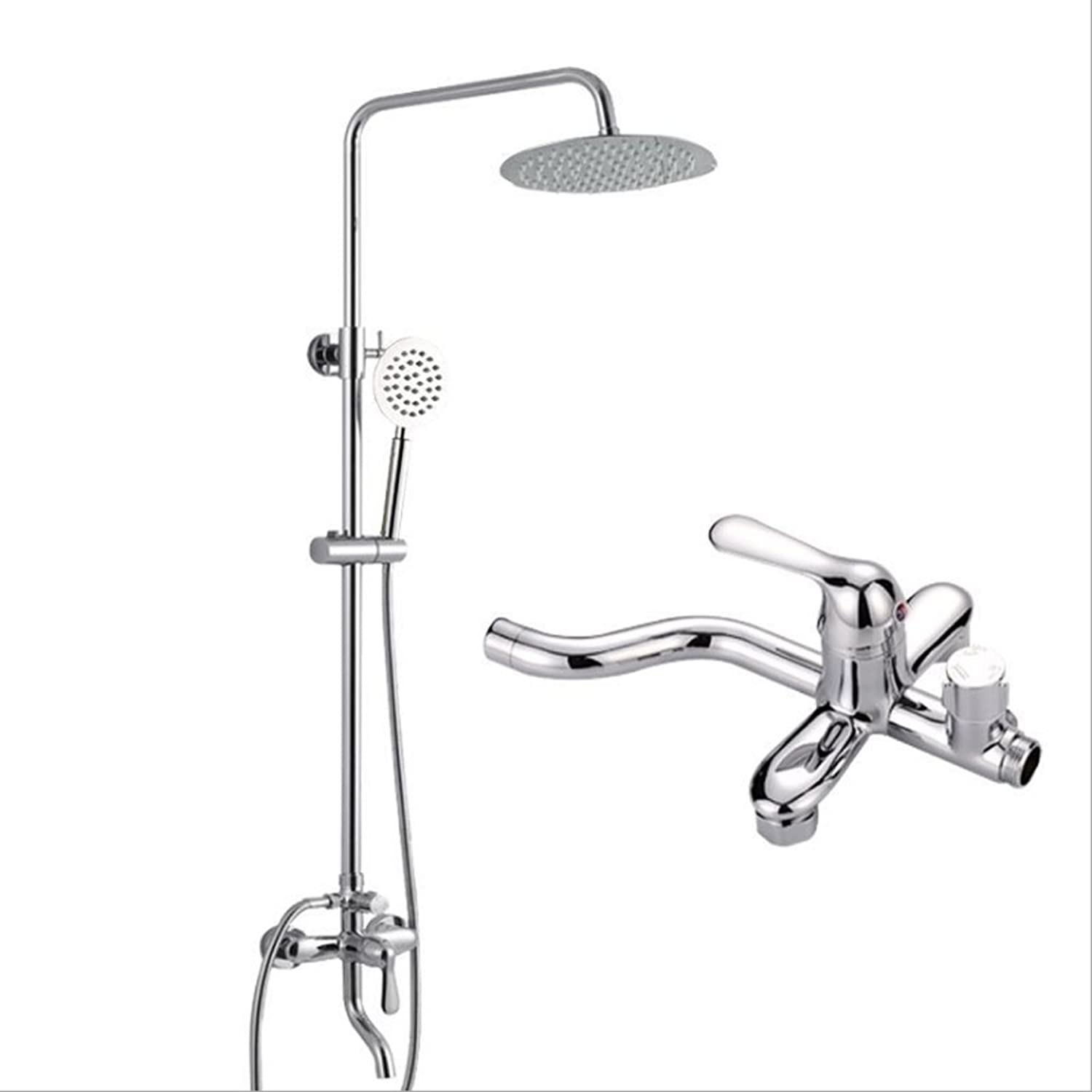 Jiaju hot and cold water mixing faucet shower set bathroom three stalls shower shower head