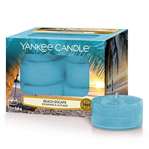 Yankee Candle - Candele profumate al lume della spiaggia, 12 pezzi