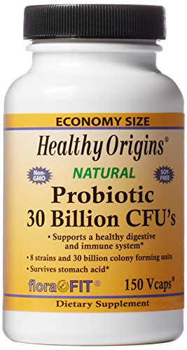 Healthy Origins - Probiotic 30 Billion Cfus X 150 Vegetarian Capsules | Digestive and Immune System Support | Gluten-Free | Soy-Free | Dairy-Free, 200 g