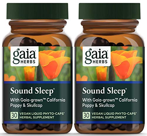 Gaia Herbs Sound Sleep, Vegan Liquid Capsules, 30 Count (Pack of 2) - Herbal Sleep Aid, Promotes Relaxation & Aids Falling Asleep Quickly, Organic Kava Kava, Valerian Root