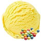 Goma de mascar Sabor amarillo 1 Kg Helado de Gino Gelati Polvo para helado de leche Polvo de helado suave Polvo de helado