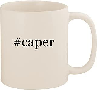 #caper - 11oz Ceramic Coffee Mug Cup, White