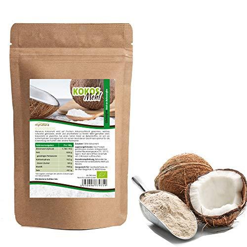 Mynatura Bio Kokosmehl 2000g I Kokosnuss gemahlen I Vegan I Mehl I Glutenfrei I Laktosefrei I Naturprodukt I Cholesterin-frei BIO (DE-ÖKO-044) (2000g)