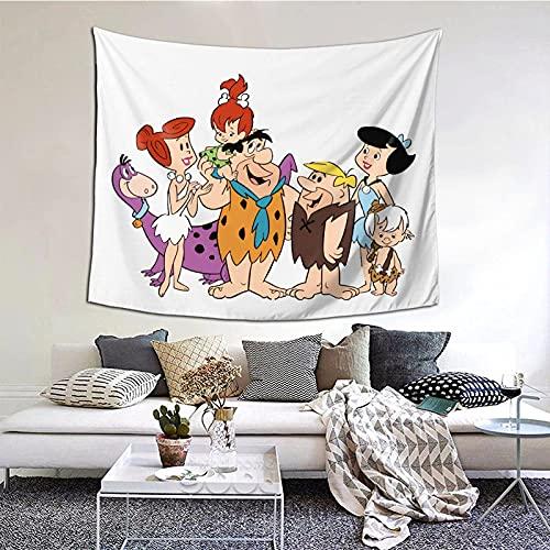 DJNGN Los Picapiedra Tapices Decorativos de Manta de Pared para Dormitorio Sala de Estar Dormitorio Decoración 60 'X 51' Pulgadas Tapices de Interior Versión Vertical