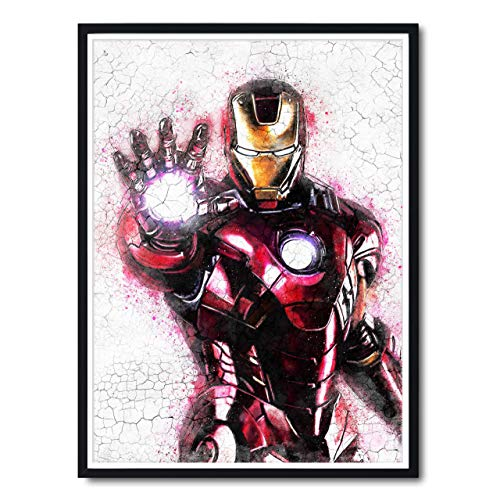 Iron Man Painting, Graffiti Avengers Infinity Wars Abstract Movie Poster Gifts, Marvel Universe Fine Art Giclee Prints, Gift Ideas for the Home