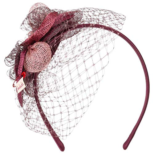 Bedacht Ledalia Fascinator Anlasshut Hochzeitshut Kopfschmuck (One Size - Bordeaux)