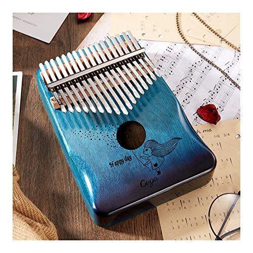 SADDPA 17 Key-Qualitäts-Acacia-Musik-Instrument 21 Keys Finger Daumenklavier Upgrade-Begrenzungsscheibe Musical 30 Key-Maschine (Color : 17k Gradient Blue)