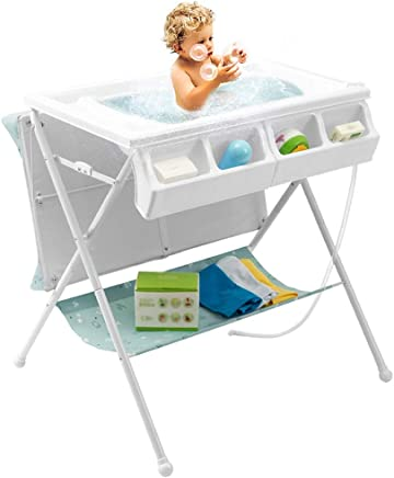 Baby Changing Table Multifunction Foldable with Bathing Table  Baby Care Station for Newborn 0-2 Years Old