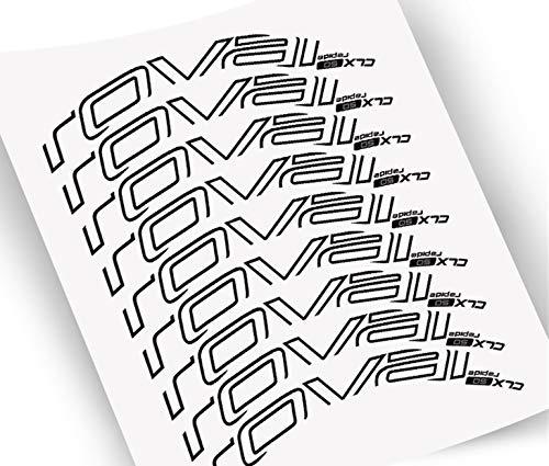 Pegatinas de Wheelset para Bicicleta de carretera 700C Bicicleta Roval Carbon Clincher Decal Traje para 50 mm Profundidad Dos Ruedas Calcomanías (Color : D brake brighe white)