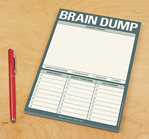 Knock Knock Brain Dump Note Pad, 6 x 9-inches Photo #4