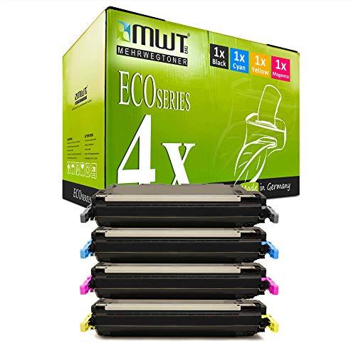 4X MWT kompatibel Toner für HP Color Laserjet 3600 DN N ersetzt Q6470A-73A 502A 501A