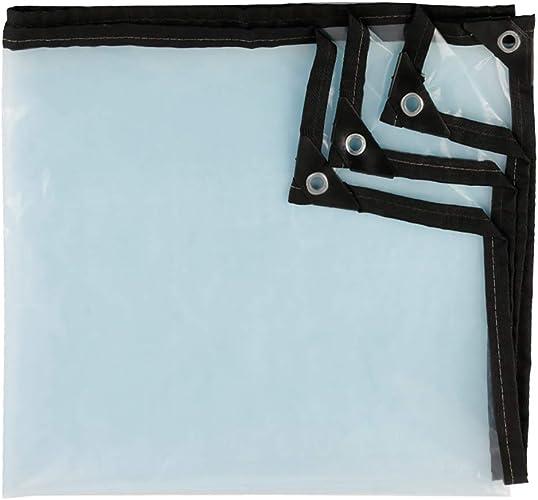 ZLL Bache extérieure imperméable-transparente Baches résistantes Bache imperméable avec oeillets anti-vieillisseHommest Couvercle de serre solaire 12G   M2,4 × 5m