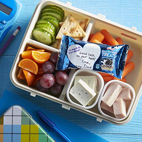 Kellogg's Rice Krispies Treats, Crispy Marshmallow Squares, Cookies 'N' Crème, 10.9oz Box (14 Count)
