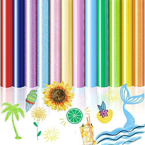 NIBESSER Plotterfolie Textil, A4 vinilo lámina de transferencia para planchar, Plotter, lámina de transferencia de calor, para camisetas, textil, artesanía, piel, 30 cm x 25 cm (12 unidades)