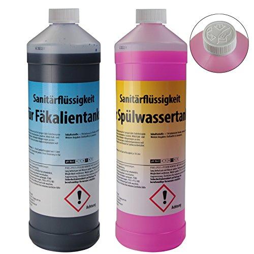 BB Sport Set 2 x 1 Liter Sanitärflüssigkeit für Campingtoiletten Chemietoiletten-Zusatz für Frisch- und Abwassertank