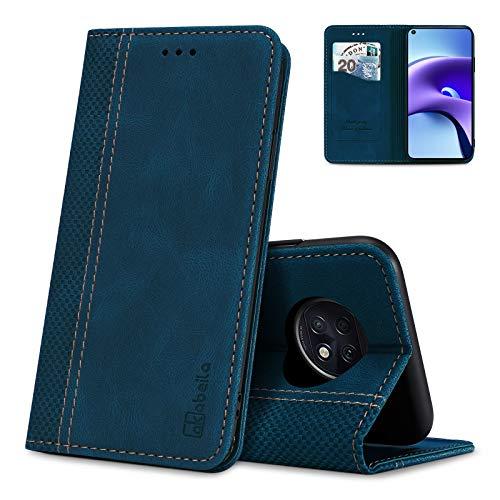 AKABEILA Hülle für Xiaomi Redmi Note 9T 5G Handyhülle Leder Flip Hülle Ständer PU Brieftasche Schutzhülle Klapphülle Tasche Hülle mit [Kartenfach] [Standfunktion] [Magnetisch]