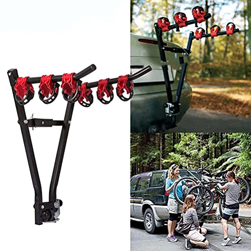 Hierro plegable trasero de coche 3 bicicletas soporte de bastidor de bicicleta soporte de enganche de marco en V para SUV