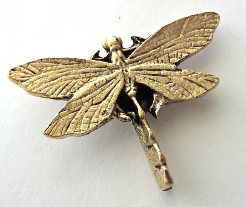 *New item*Very Large Dragon flies Set of 9 Antique gold