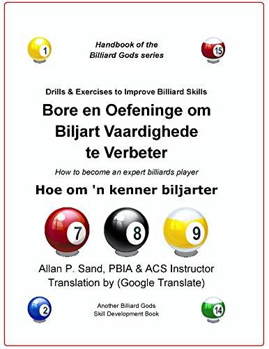 Bore en Oefeninge om Biljart Vaardighede te Verbeter: Hoe om 'n kenner biljarter (Afrikaans Edition)