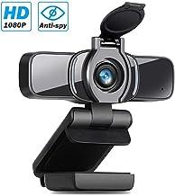 LarmTek Webcam HD 1080p con Obturador De Privacidad,Cámara Web para PC,Cámara Portátil con Micrófono,Videollamadas De Pantalla Panorámica y Soporte De Grabación para Conferencia,W3
