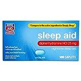 Rite Aid Nighttime Sleep Aid Mini Caplets - 100 Caplets | Non-Habit Forming Sleep Supplement