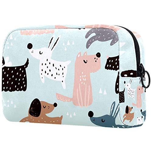 Bolsa de Maquillaje Organizador Pequeñas Bolsas de cosméticos para Mujeres Neceser de Viaje para baño Estuche de Maquillaje Monedero Bolso de Mano Perros Infantiles