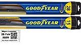 2013-2015 Nissan Sentra Replacement Wiper Blade Set/Kit (Set of 2 Blades) (Goodyear Wiper Blades-Hybrid)...