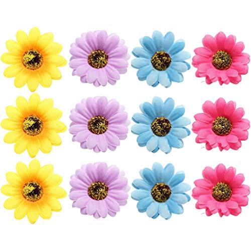 PRETYZOOM 12Pcs Pince à Cheveux Fleur Hawaïenne Pinces à Cheveux Marguerite Barrette Côté Bohème Broche à Cheveux Été Plage Broches Coiffure pour La Photographie de Fête
