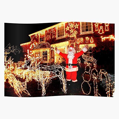 Sconosciuto Father Xmas Christmas Decorations Santa Claus Home Decor Wall Art Print Poster !