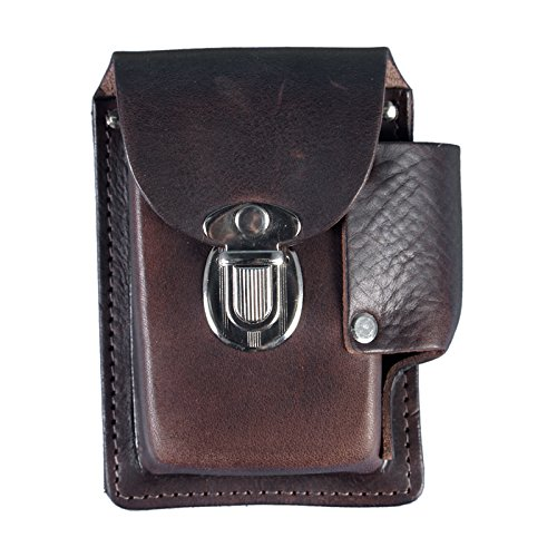 Hot Leathers CSB1010 Brown 5' x 5' Cigarette Case with Lighter Pouch