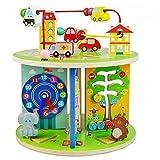 yoptote Juguetes De Madera Cuenta Redonda Cubo de Actividades Juguetes Montessori Tridimensional Multifuncional Circuito De Bolas Juguetes Educativos Cumpleaños para Niños De 3 4 5 Años