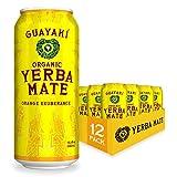 Guayaki Yerba Mate | Organic Alternative to Herbal Tea, Coffee and Energy Drink | Orange Exuberance | 150 mg of Caffeine | 15.5 Oz | Pack of 12