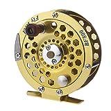 TOOGOO(R))Metal Lleno Pescados de la Mosca Carrete Anterior Hielo Pesca Embarcaciones Rueda BF800A 0.5mm/300m 1:1